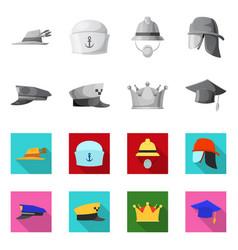 Design of headwear and cap symbol vector