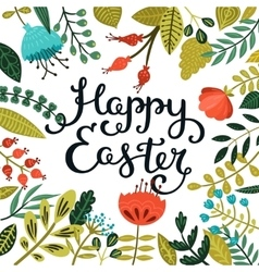 Easter card with handdrawn lettering vector