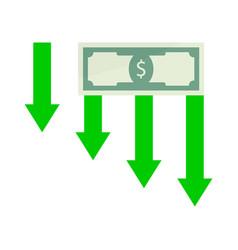 financial crisis money vector image