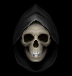 Flaming skull death 01 vector