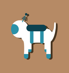 Flat icon design collection space dog in sticker vector