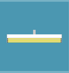 Fluorescent lamp hanging electrical concept save vector