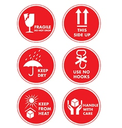 Fragile Handle with Care Label Sticker vector