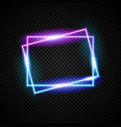 Glowing neon frame with light effect vector