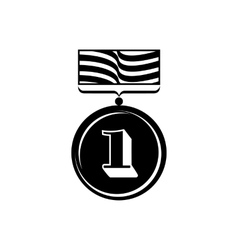 Gold medal icon simple style vector