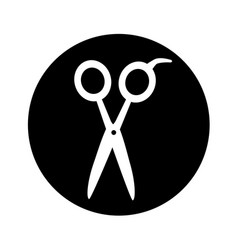 hairdresser scissors isolated icon vector image