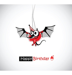 Happy Birthday mouse vector image