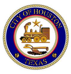 houston city seal vector image