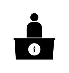 Information desk icon vector