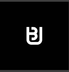 Initials bu logo is simple and modern 3 vector