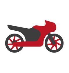 kawasaki motorcycle silhouette flat logo sign vector image vector image