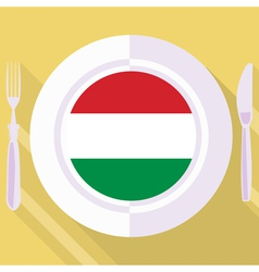 Kitchen of Hungary vector