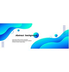 Liquid blue gradient abstract background vector