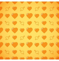 Lovely heart romantic pattern vector image