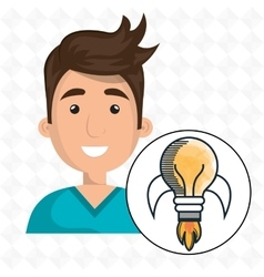 man young idea icon vector image