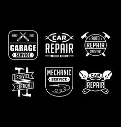 mechanic logo and badge good for print vector image