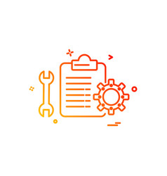 mechanical checklist icon design vector image