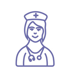 Medical doctor or nurse icon- medical doctor sign vector