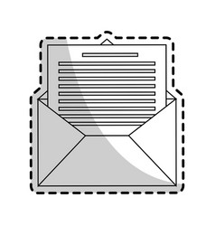 message envelope icon image vector image
