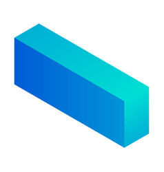 Minus sign icon isometric style vector