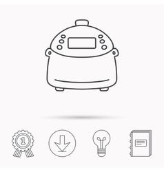 Multicooker icon Kitchen electric device symbol vector
