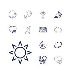 Orange icons vector