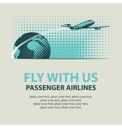 Passenger plane and planet Earth vector