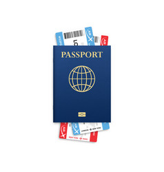passport mock up travel concept citizenship id vector image