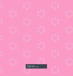 Pink flower pattern background vector