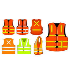 Protective construction wear vest jacket safety vector
