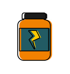 protein bottle icon vector image