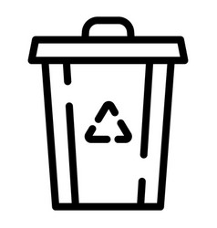 recycle garbage bin icon outline style vector image