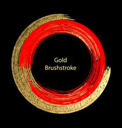 red and gold brushstroke design templates for vector image