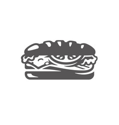 sandwich icon isolated on white background vector image