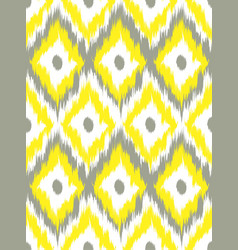 seamless pattern tribal art ikat ogee vector image