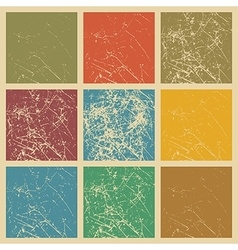 Set of scratched vintage grunge background vector image