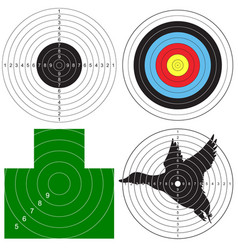 set targets for shooting vector image