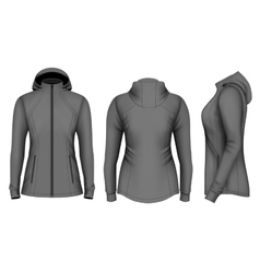 Softshell hooded jacket for lady vector