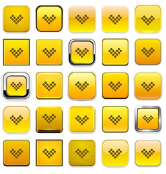 Square yellow download icons vector image