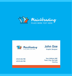 sydney logo design with business card template vector image