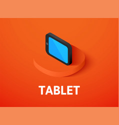 tablet isometric icon isolated on color vector image
