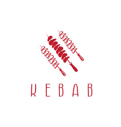template icon logo for kebab vector image