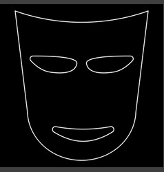 theater mask the white path icon vector image