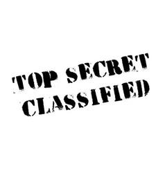top secret classified rubber stamp vector image