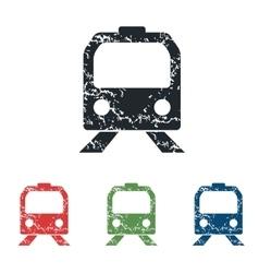 Train face grunge icon set vector