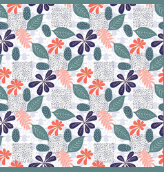 trendy seamless exotic pattern with foliage vector image