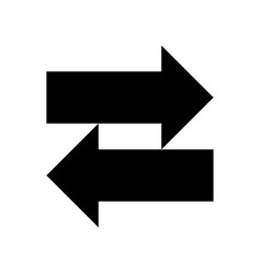 two arrows left-right sign filled black vector image