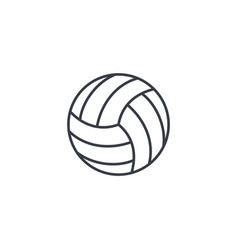 Volleyball ball thin line icon linear vector