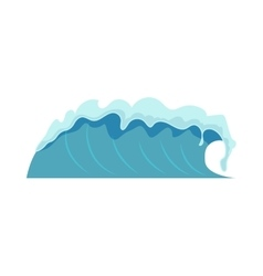 Water waves isolated vector image
