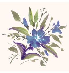 Watercolor flowers vector image